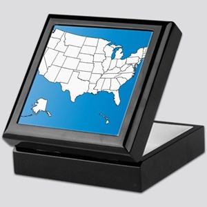 United States of America Keepsake Box